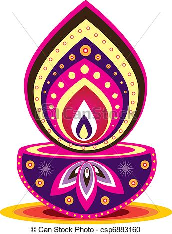 Oil Lamp clipart hindu Lamp Indian Oil style of