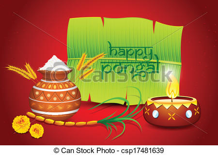 Oil Lamp clipart pongal Illustration Happy  Happy greeting