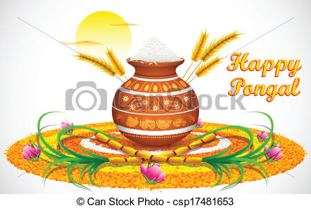 Oil Lamp clipart pongal Pongal Pongal csp17481653 Happy Happy