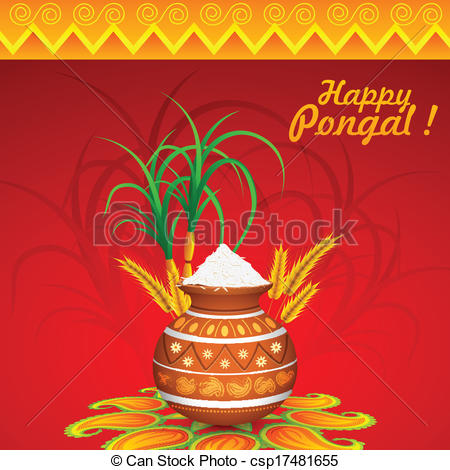 Oil Lamp clipart pongal Pongal of  Happy Pongal
