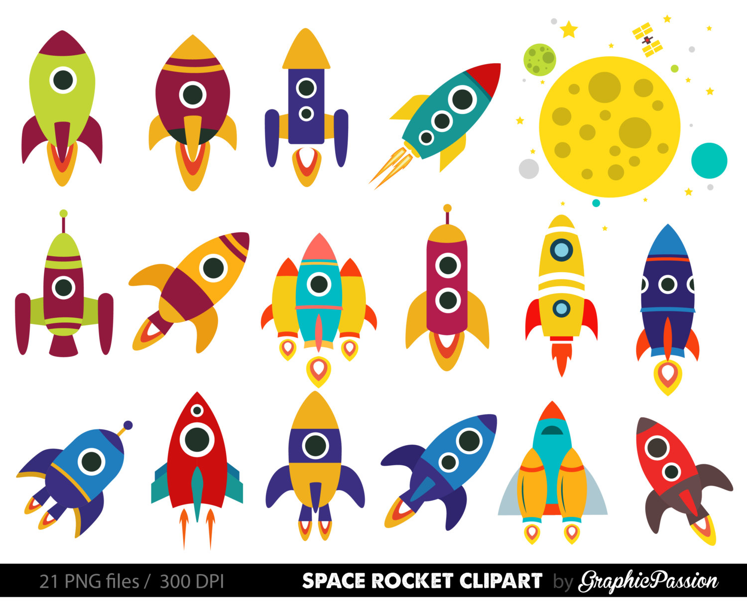Science clipart rocket ship Rockets item? Art Clipart Retro