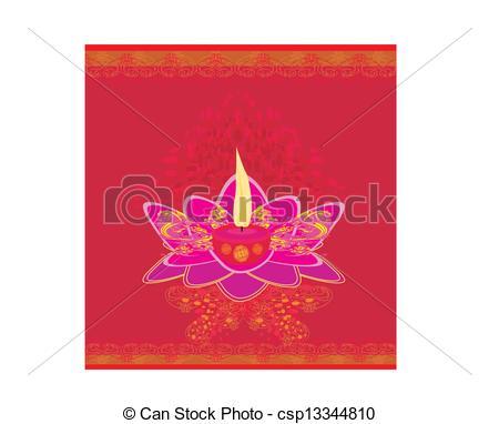 Oil Lamp clipart vesak Lamp Vesak Lotus or csp1484922