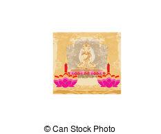 Oil Lamp clipart vesak Lamp of Lotus Day Buddha