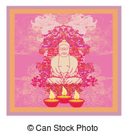 Oil Lamp clipart vesak Of Art background or with