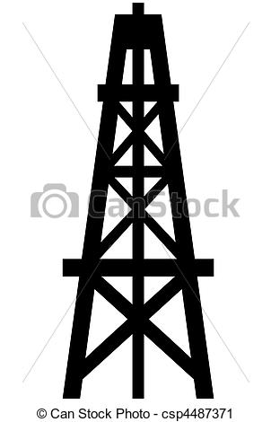 Oil rig: Oil Vector Clipart