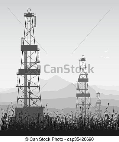 Oil Rig clipart electric tower #6