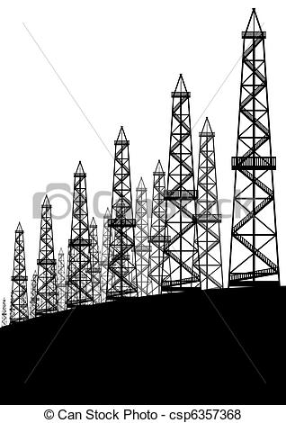Oil Rig clipart mining industry Of Oil Oil Contour industry