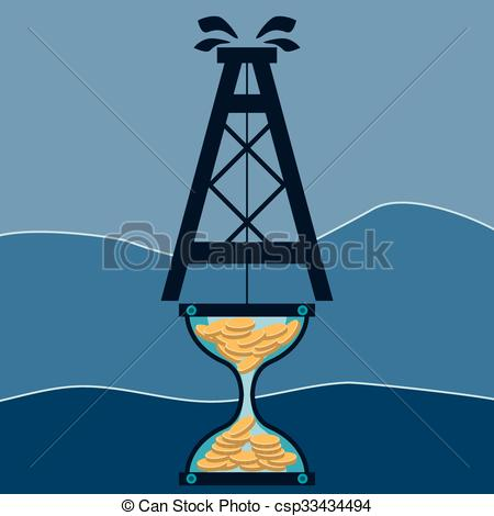 Oil Rig clipart mining industry Gold and Hourglass Mining of