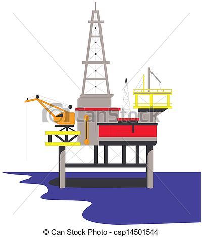 Oil Rig clipart oil platform Drilling csp14501544 Oil csp14501544 Vector
