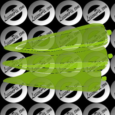 Okra clipart green Okra Okra Stencil Classroom Stencil