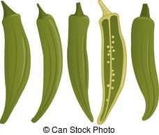 Okra clipart lady finger Stock whole Okra Illustrations 130