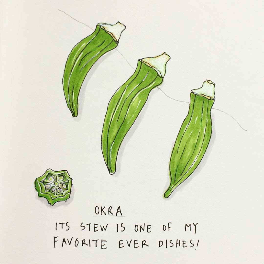 Okra clipart one Was the dishes stew my