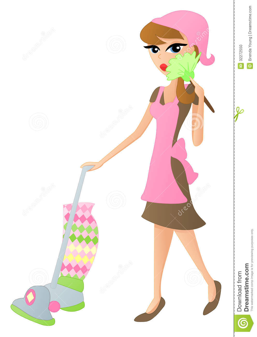 Old clipart cleaning lady Lady Cartoon  Cleaning Clipart