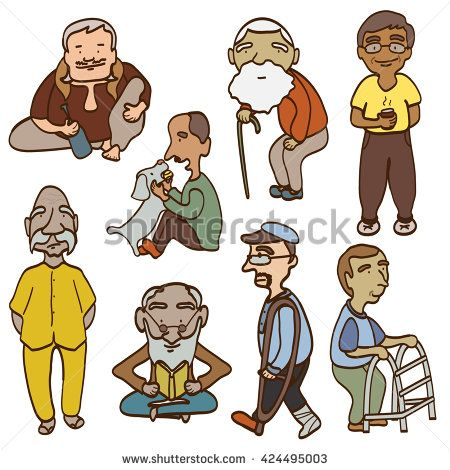 Old clipart group old person Age men cartoon Pinterest ID:424495003