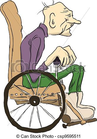 Old clipart old grandpa  Old sits Old in