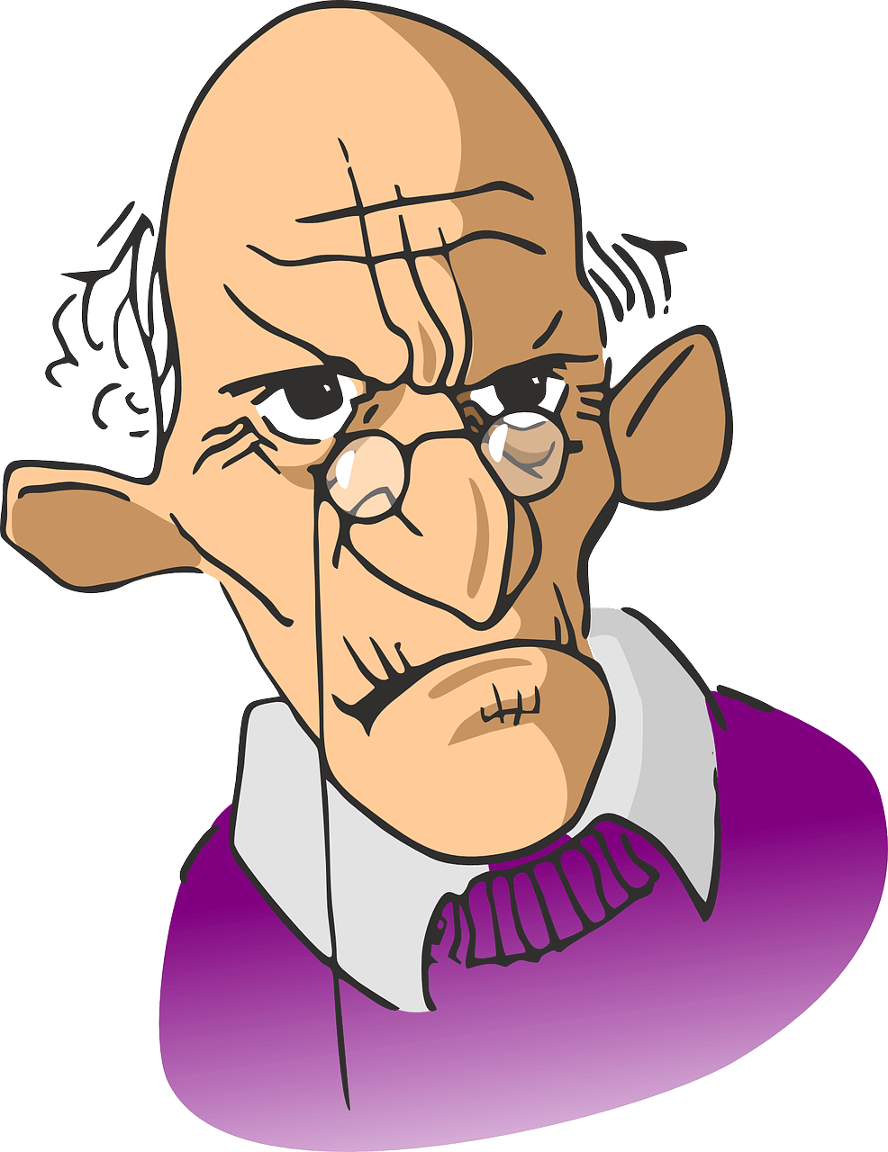 Old clipart retired person At and  152866_1280 Figure