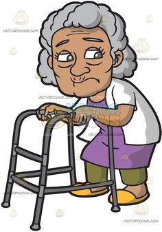 Old clipart short person Old Woman While Pain An