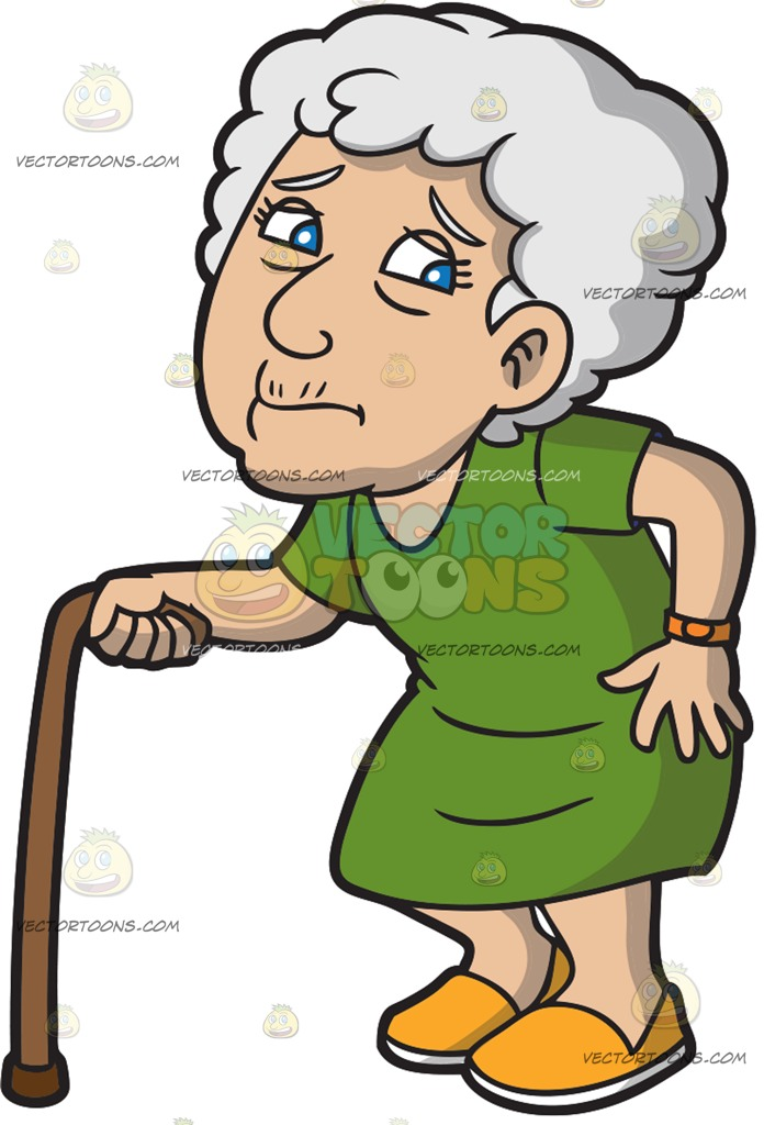 Old clipart short person Cartoon Clipart Woman Old Clipart