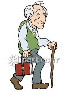 Old clipart walking stick Free Royalty Guy Walking Stick