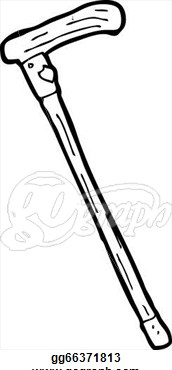 Old clipart walking stick Stick Cane  Clipart