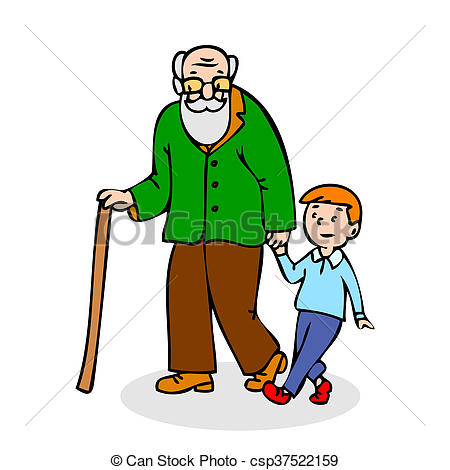 Old clipart walking stick Old stick of man with