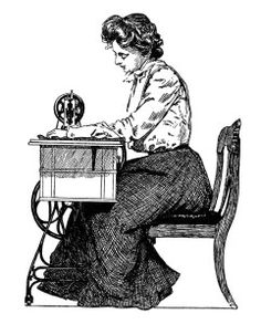 Old clipart woman ironing Clip old sewing free and