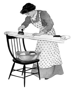 Old clipart woman ironing Old ironing old ironing housework