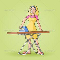 Old clipart woman ironing Her Cheryl Ironing Art Jane
