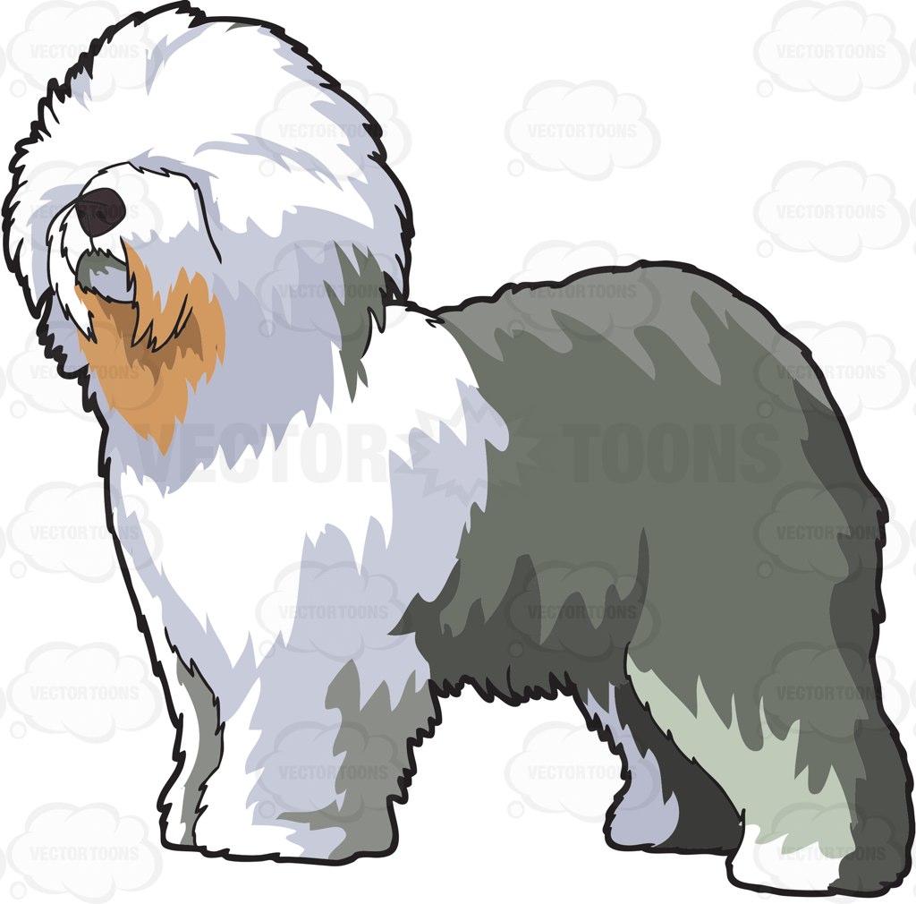 Old English Sheepdog clipart Clipart sheepdog Sheepdog Clipart Fluffy