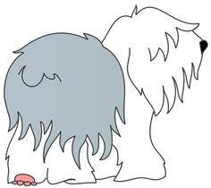 Old English Sheepdog clipart Sheepdog art  old Terms: