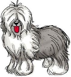 Old English Sheepdog clipart  Funny sheep English english