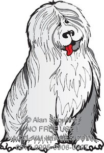 Sheepdog clipart Of Clipart Old Sheepdog Illustration