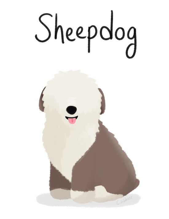 Old English Sheepdog clipart cartoon On english Art dog!! 115