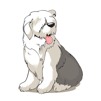 Sheepdog clipart Dictionary Old clipart Old English