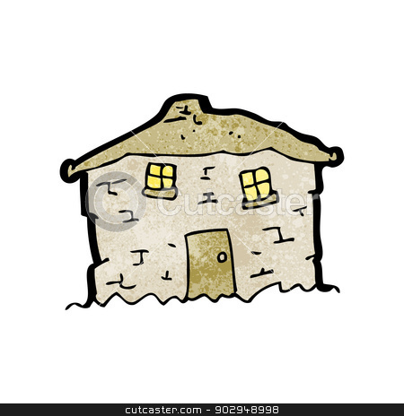 Old House clipart mud house Vector crumbling cartoon house cartoon