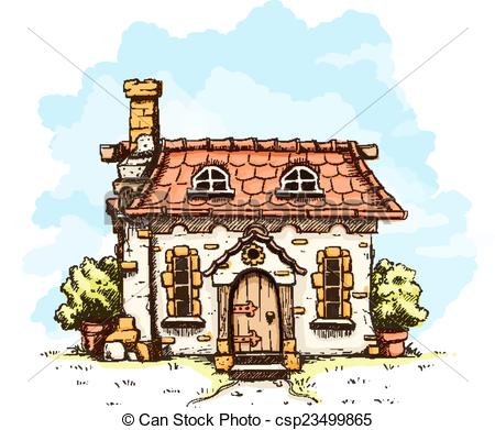 Old House clipart Fairy house fairy with in