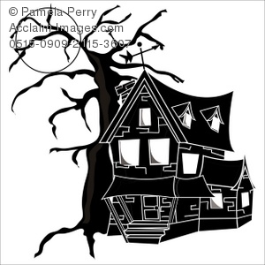 Old House clipart Moon Full a Old of