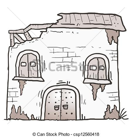 Old House clipart mud house Creative csp12560418 cartoon house Clip