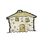 Old House clipart mud house GoGraph old crumbling Old House