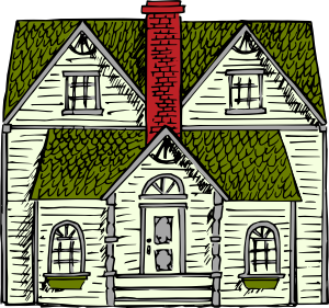 Old House clipart mud house Clker Clip clip Coloured Victorian