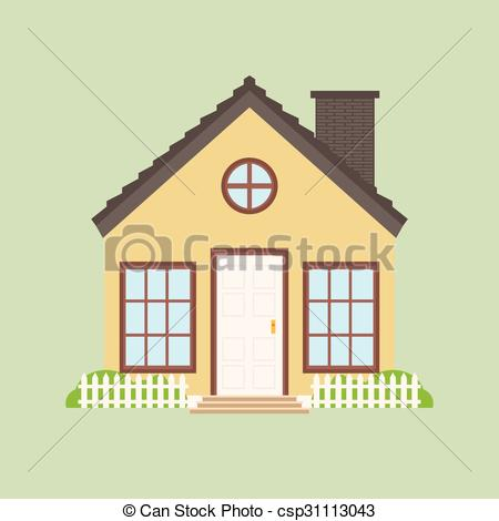 Cottage clipart old building House abstract a  Vector