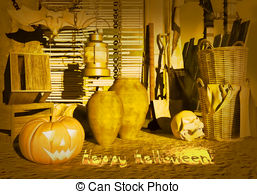 Old House clipart house yard Night pumpkin Clipart at in