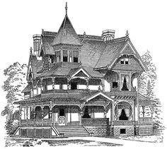 Old House clipart large house Dover Publications luxury Book Adults