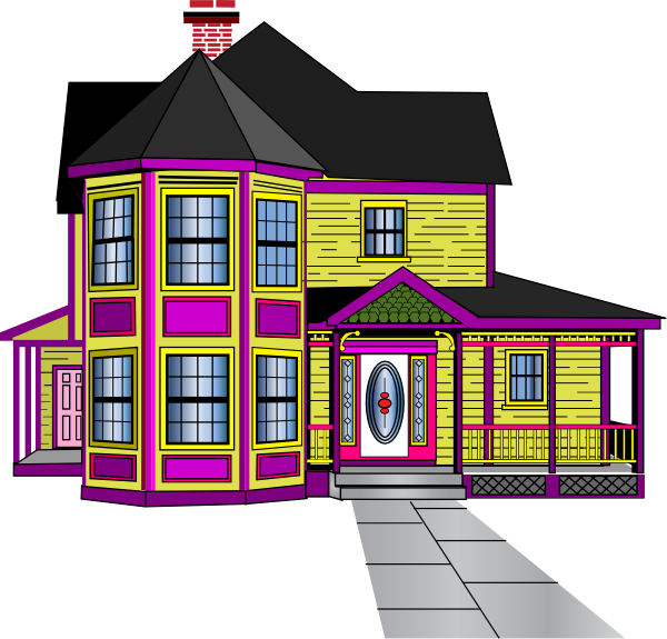 Old House clipart large house Aabbaart com Art large #4