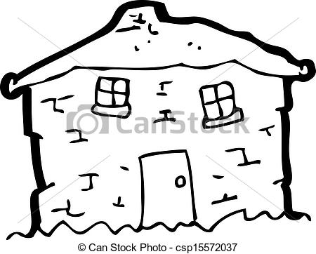 Old House clipart line art #5