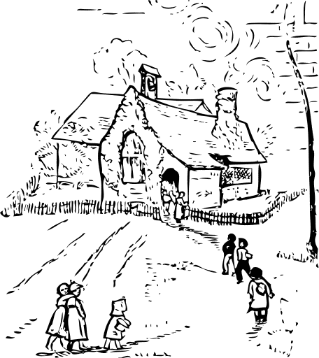 Old House clipart line art #6