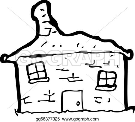 Old House clipart line art #3