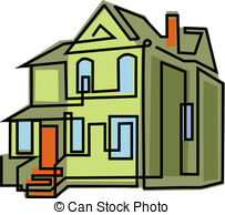 Old House clipart line art #2