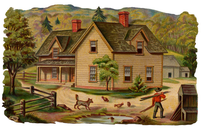 Cabin clipart old house Nice Cliparts Zone house farm