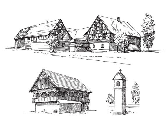 Old House clipart old shack Poster Art Sketching 3 High